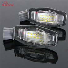 2Pcs 18 LED License Plate Lights Number Lamp f=For Honda/Accord/Odyssey/Acura/TSX/Civic 01-05