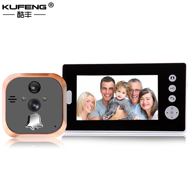 цена на 2017 New 7 Inch LCD Digital Peephole Colour Screen door peephole video doorbell in Photograph Monitoring Security Video Camera