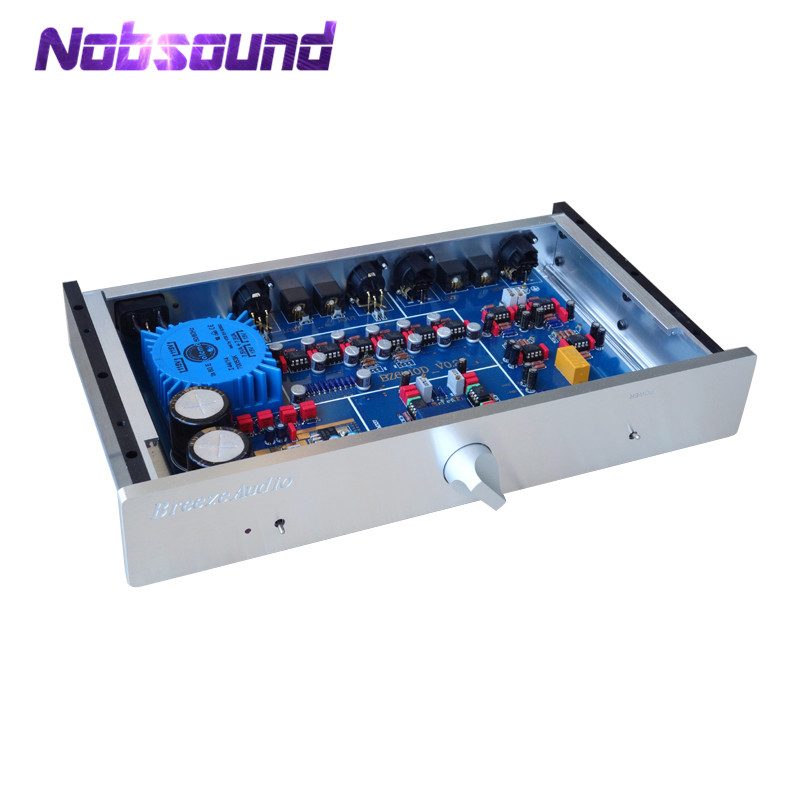 Nobsound Hi-End Fully Balanced Pre-Amplifier Stereo HiFi Preamp Refer to MBL6010D Circuit 2018 new nobsound hi end luxury fully balanced amplifier pre amp hifi preamplifier xlr input with led refer to ml380s