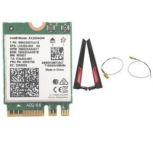Image 1 - Z zestawem anten AC88U 8dbi + bezprzewodowa karta Intel Wi Fi AX200 Bluetooth 5.0 802.11ax/ac MU MIMO 2x2 Wifi NGFF AX200NGW