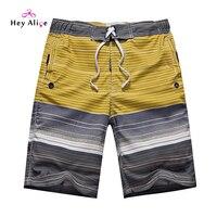 Fashion Beach Board Shorts Men 2016 Striped Knee Shorts Quick Dry Borad Shorts High Quality Cheap