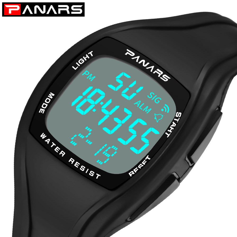 PANARS Square Digital Watch Men Sport Watch 50M Waterproof Outdoor Clock Men LED Male Electronic Wrist Watches relogio masculino amuda outdoor big dial sport watches men camouflage style waterproof led digital quartz wrist watch clock male relogio masculino
