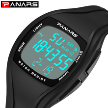PANARS Square Digital Watch Men Sport Watch 50M Waterproof Outdoor Clock Men LED Male Electronic Wrist Watches relogio masculino