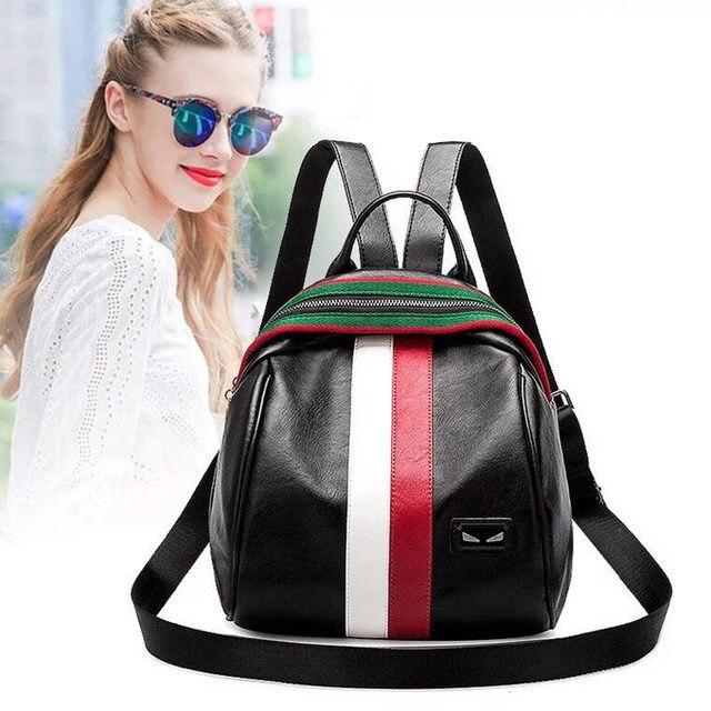 bc9bd7d4f5 2018 New Fashion Design Women Backpack High Quality Youth Leather Backpacks  for Teenage Girls Female School Shoulder Bag Bagpack