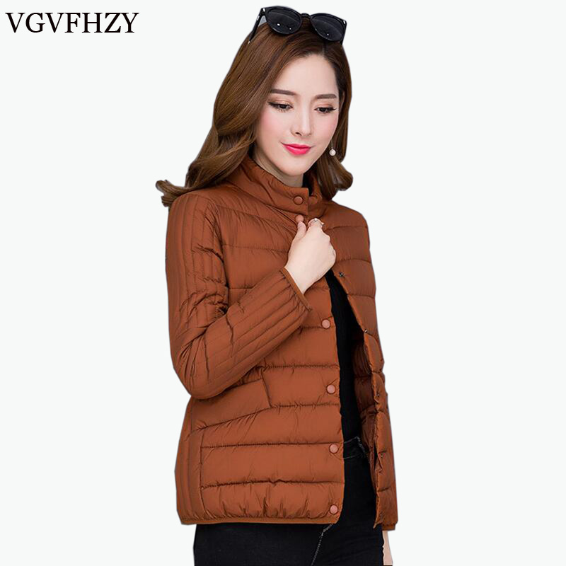 2018 new Spring Winter Women Ultra Light   Down   Jacket Casual Female Portable duck feather   Coat   Jackets Plus size 5XL Lightweight