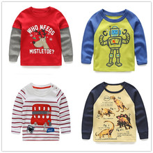 VIDMID boys t-shirt children's t-shirts autumn cartoon kids shirts for boys baby clothes boy t-shirt blouse dinosaur cars thick