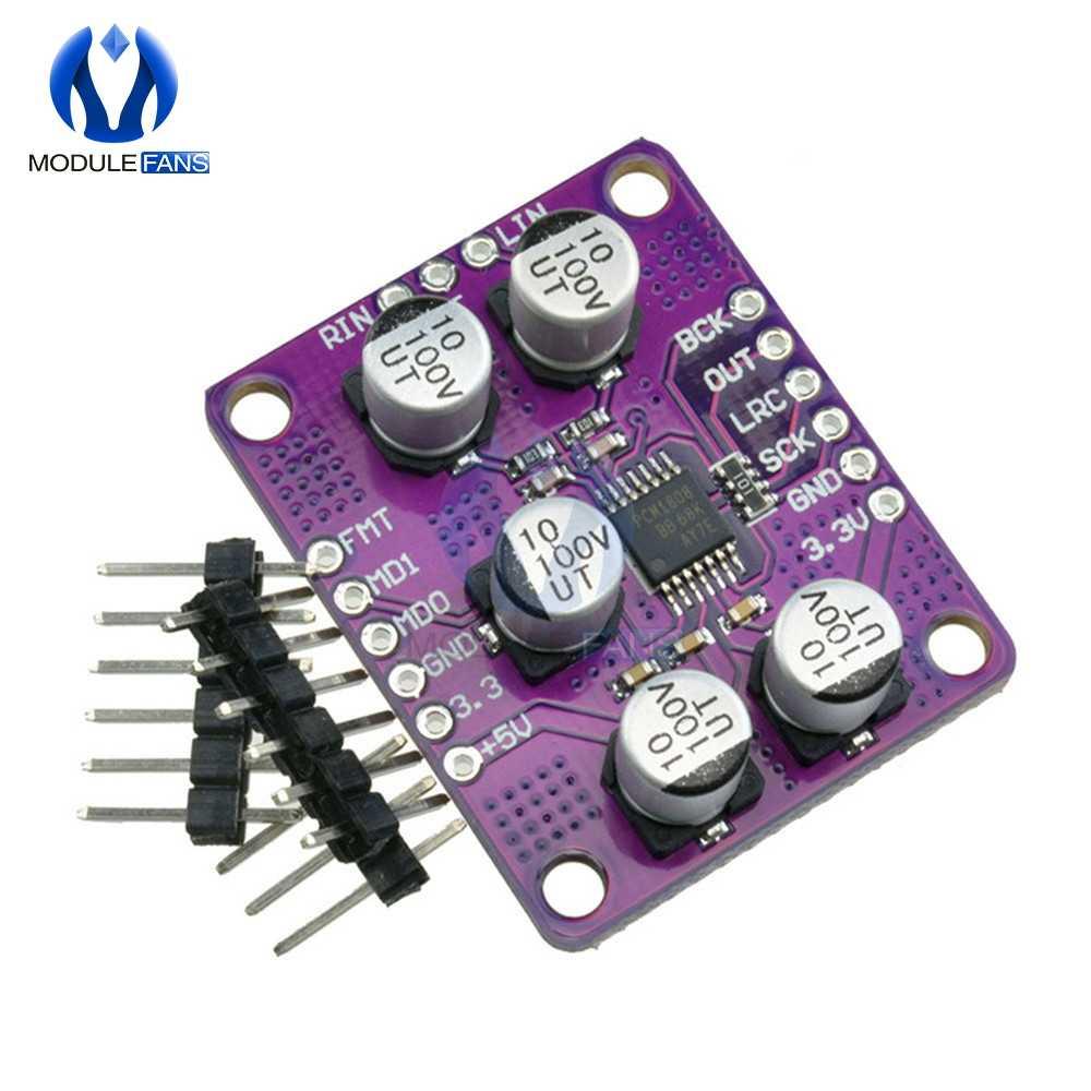 PCM1808 105dB SNR الصوت ستيريو ADC واحدة نهاية التناظرية المدخلات فك 24bit مكبر للصوت مجلس لاعب وحدة
