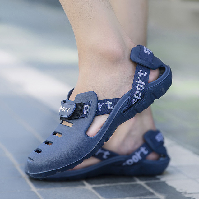 Hombres Slip Recortes Zuecos Sandalias Zapatos Masculina Verano Moda QCthxBsrd