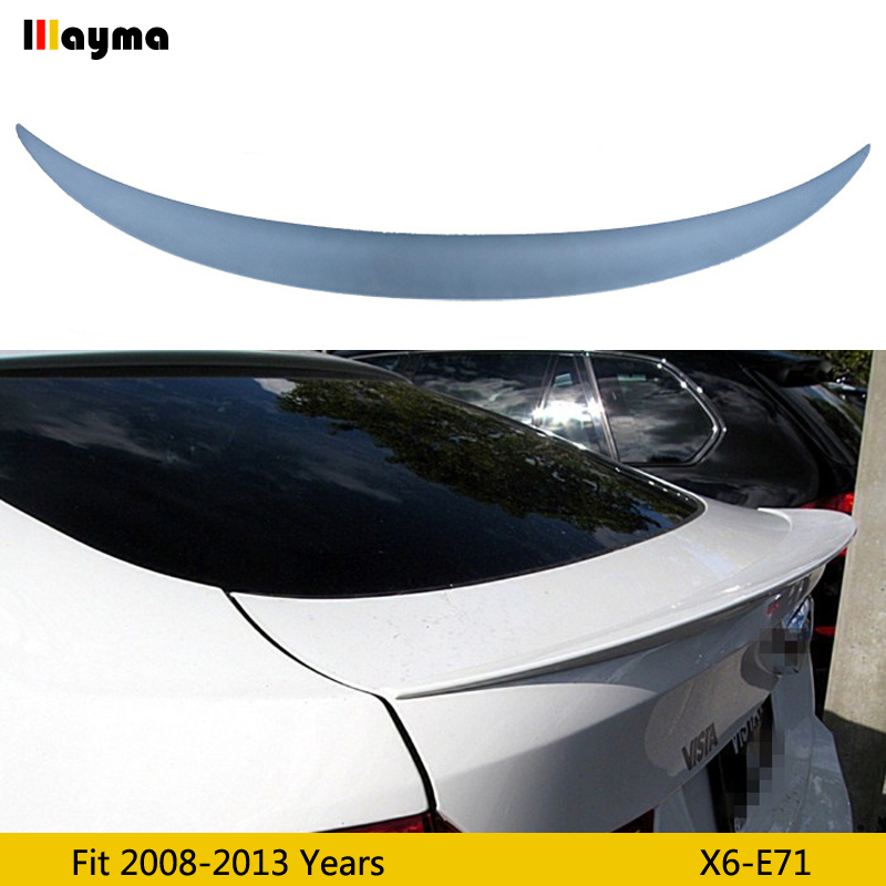 Performance style Fiber glass Primer Color rear trunk spoiler For BMW X6 xDrive 35i 50i 2008 2013 year E71 FRP car spoiler Wing
