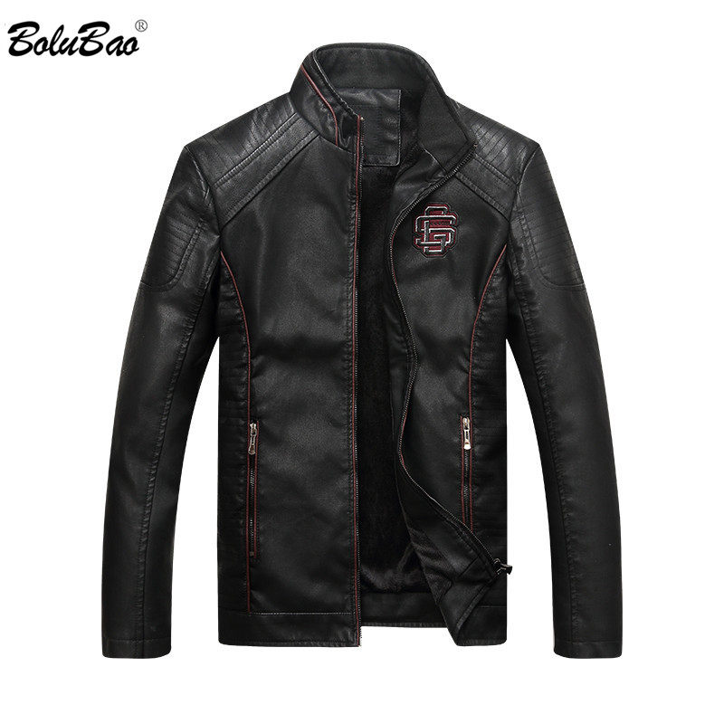 Bolubao 2018 New Winter Males Leather-based Jacket Vogue Excessive High quality Informal Outerwear Biker Leathers Jackets Male