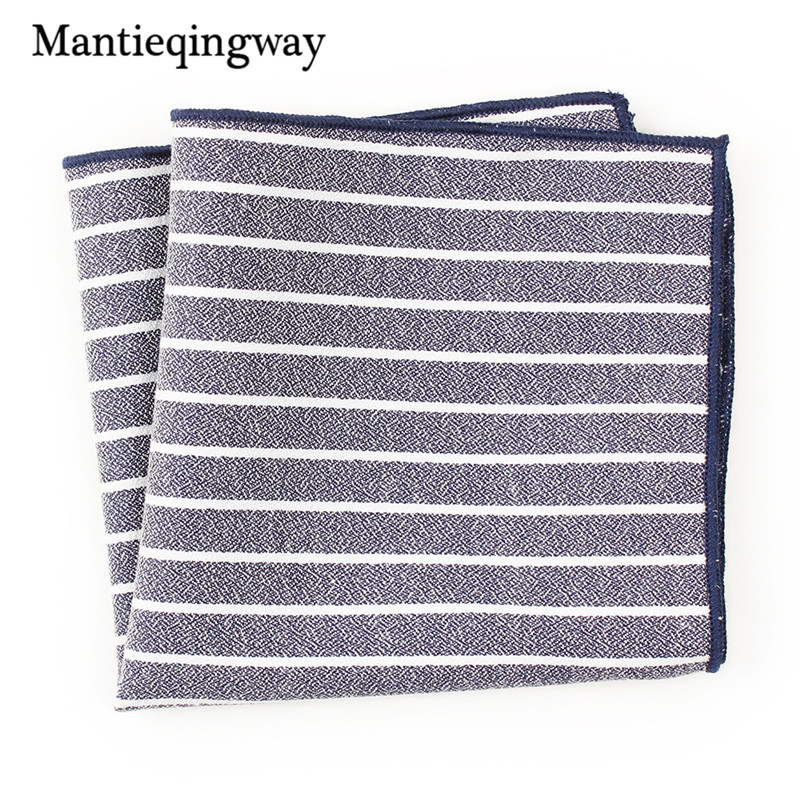 Mantieqingway Fashion Casual Striped Pocket Square Handkerchiefs For Men Women Accessories Male Business Suit Handkerchief Hanky