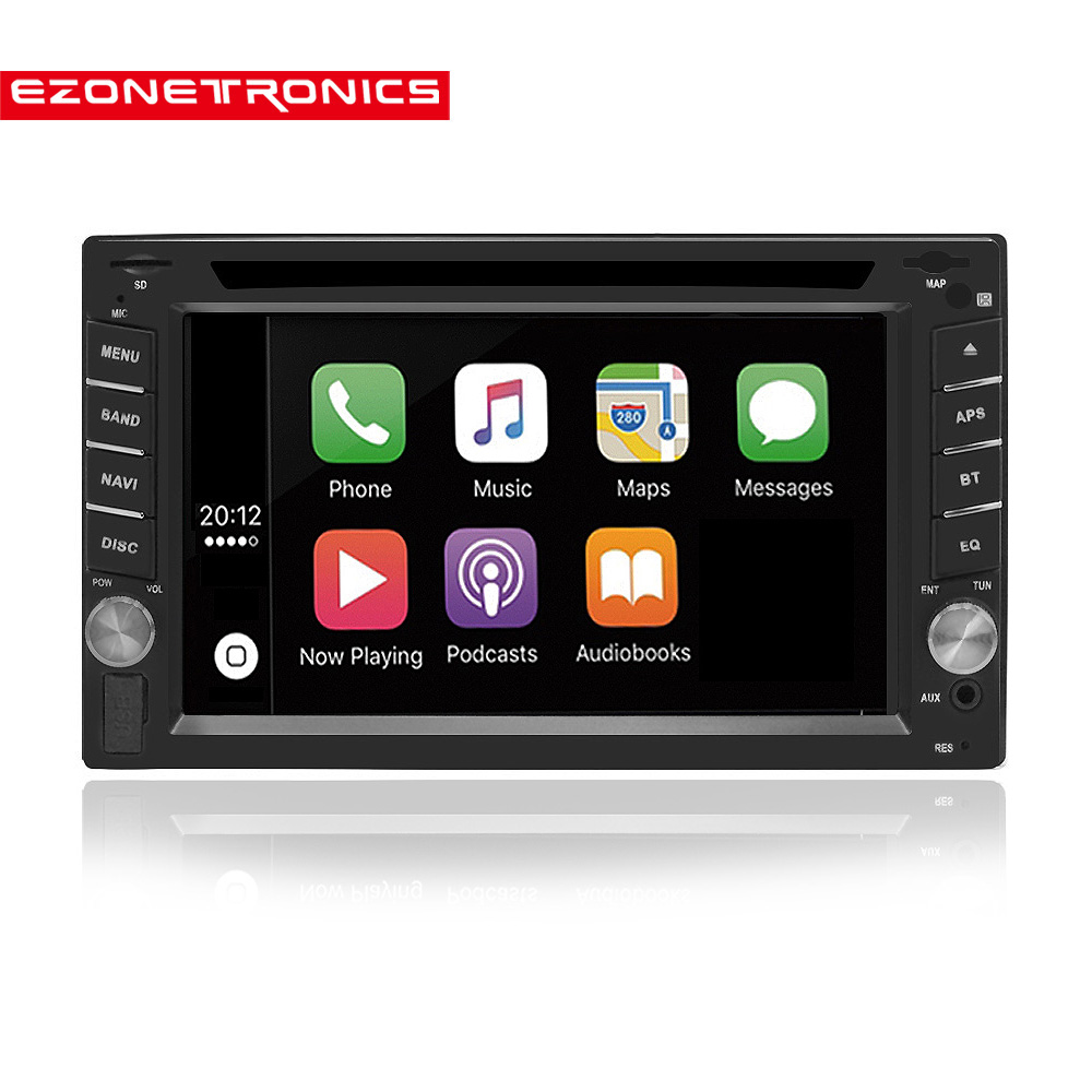 2Din Universal DVD player Autoradio carplay 6 2inch car Radio stereo Bluetooth USB SD Steering Wheel