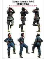 Смола Наборы 1/35 WW II советский Танк корпус 2 группы людей Бесплатная доставка