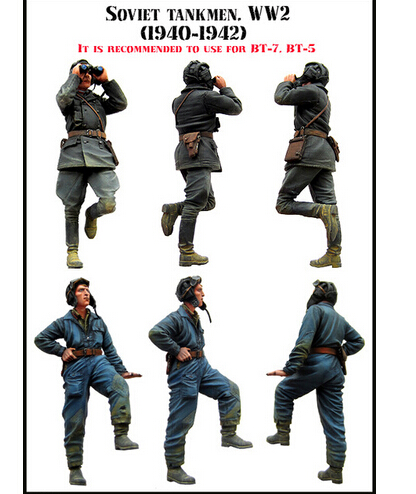 Resin Kits 1/35 WW II The Soviet Tank Corps 2 People Group Free Shipping