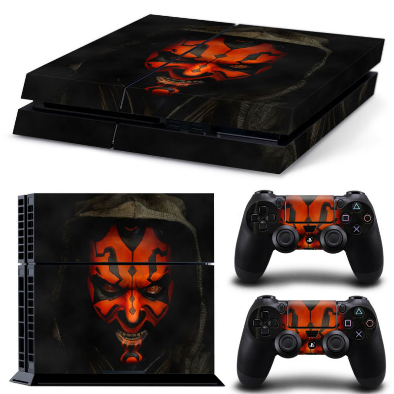 Star Wars play 4 Vinyl Decal Skin Stickers For play station 4 Console PS4 Games+2Pcs Stickers For ps4 accessories