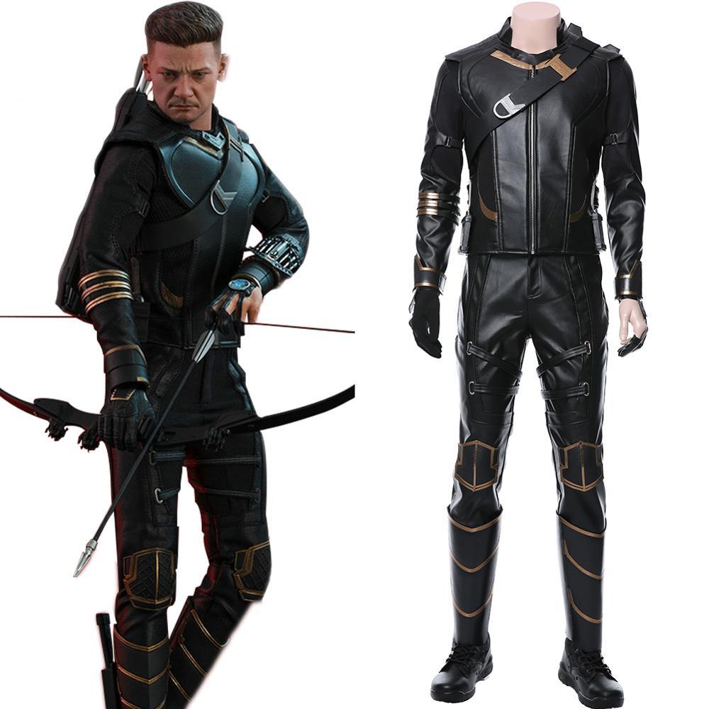 Avengers 4 Endgame Hawkeye Costume Clinton Barton Cosplay Ronin Halloween Outfit