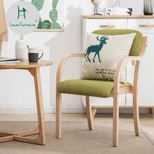 Модный обеденный стул в стиле Луи, современный минималистичный домашний ресторанный стул для отдыха в скандинавском стиле с твердой деревянной спинкой, образец стола