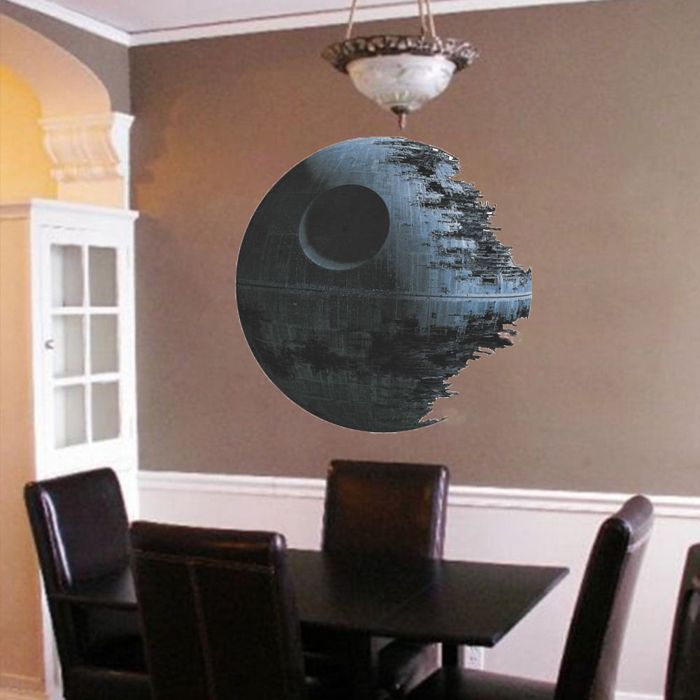 Star Wars Death Star Removable Vinyl Wall Art Wall Sticker Room