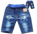 Комикс POLI ROBOCAR дети короткая джинсы дети мальчики лето деним брюки вышитая стиральная мягкий деним шорты