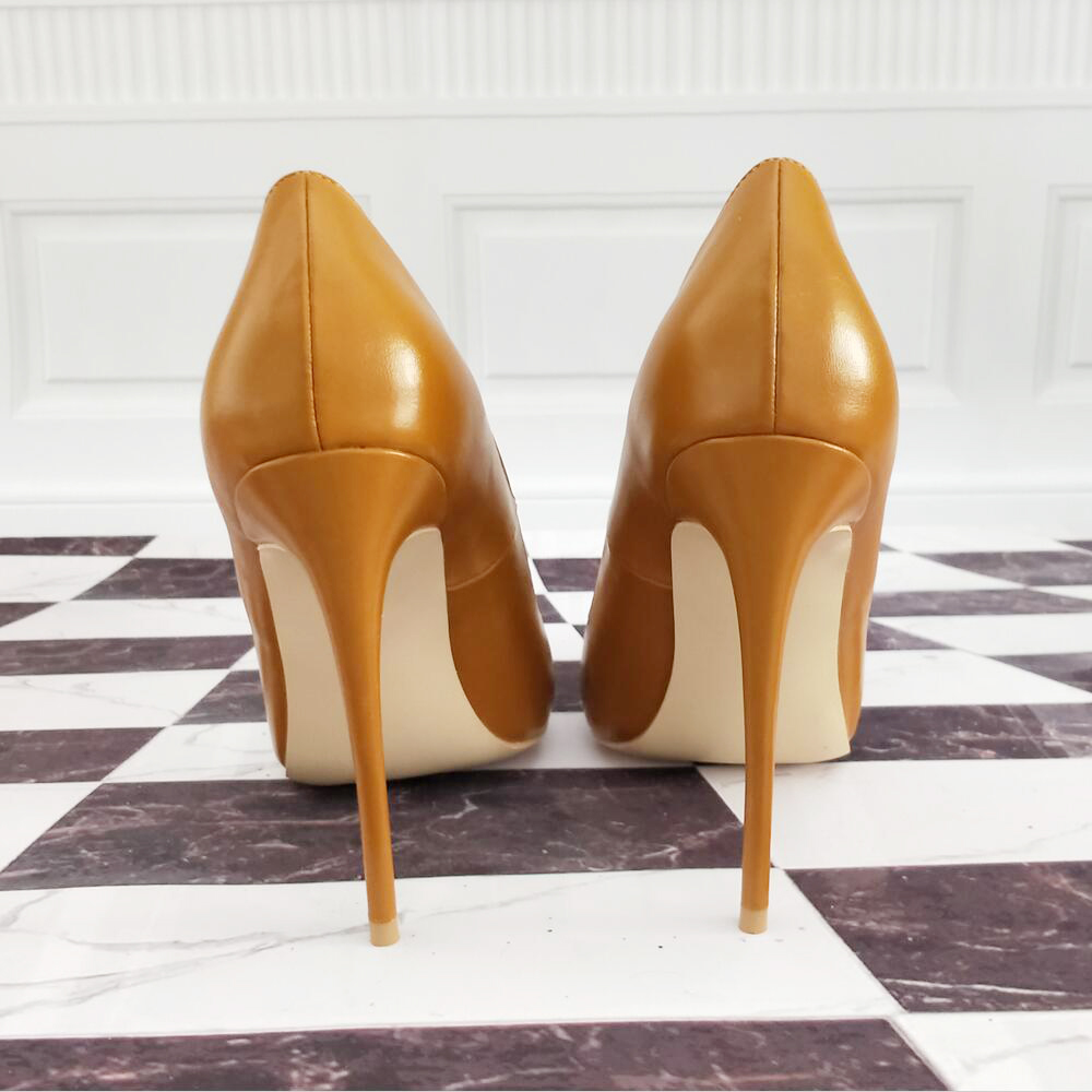 Amérique Petite Terre Nouvelle 12cm Fine Europe Taille Printemps Avec Khaki Chaussures Et Haute Jaune Bouche Pointu Talons Peu Mode De Sauvage Profonde FqwIExCUI