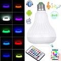 LED RGB Sem Fio Bluetooth Speaker Lâmpada E27 E26 B22 LEVOU Luz RGB Lâmpada com Controle Remoto de Reprodução de Música Casa de Alta qualidade