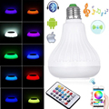 LED RGB Wireless Bluetooth Speaker Bulb E27 E26 B22 LED RGB Light Music Playing Lamp with Remote Control Household High Quality
