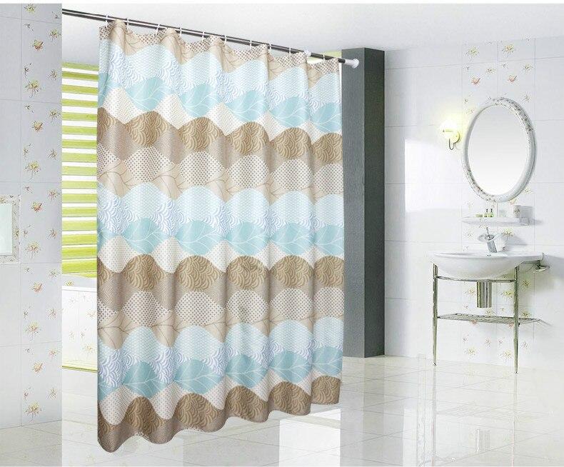 Dunxdeco tenda della doccia bagno impermeabile cortinas moderna