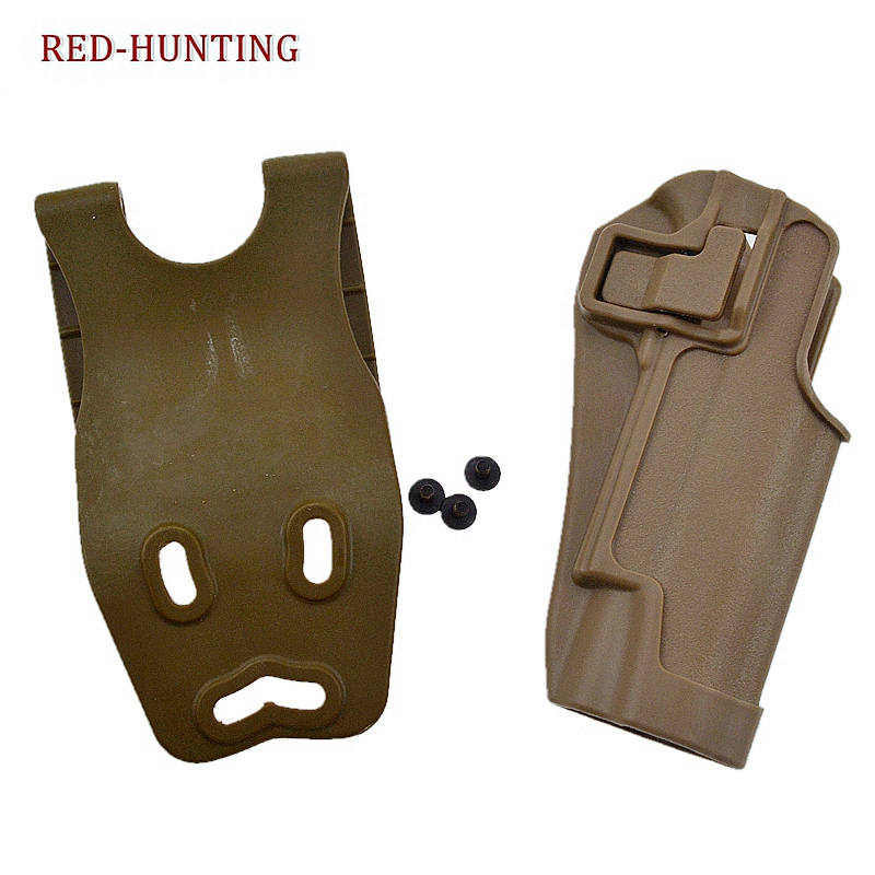 2020 New 1911 Holster High Quality Polymer Tactical Right Hand Waist Pistol Gun Holster w/ Jacket Slot for Colt 1911 image