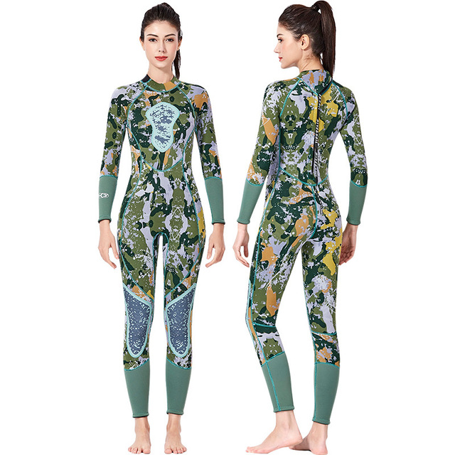 Fanceey 3MM Camouflage Neoprene Wetsuit Scuba Diving Suit Men Thickened Thermal Diving Suit Women Spearfishing Swimming Suit