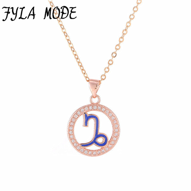 plated signs il ca market gold jewelry etsy necklace birth constellation capricorn polished zodiac pendant