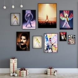 Freddie Mercury Music Poster Wall Art  Canvas Print Home Decor No Frame