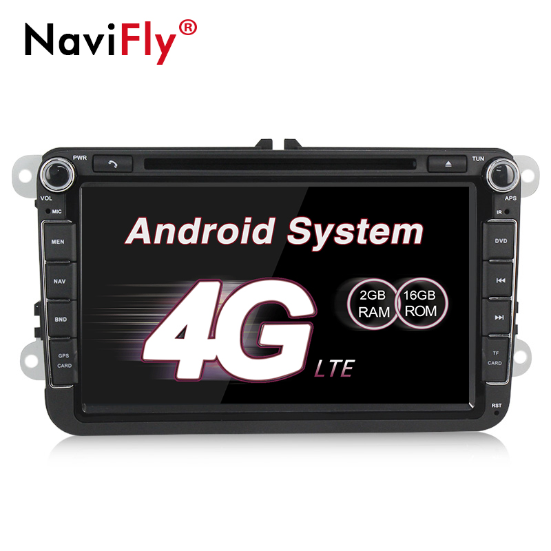navifly 4g wifi android 7 1 car gps navi for volkswagen. Black Bedroom Furniture Sets. Home Design Ideas