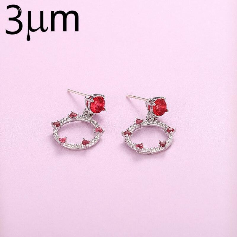 3UM Earring Accessory Pendants Earring Findings Hoop Earring Opal Silver Earring Pendant Red in Hoop Earrings from Jewelry Accessories