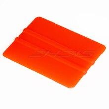 Ehdis 500 pcs 오렌지 플라스틱 스퀴지 창 와이퍼 스퀴지 7.5x5.5 cm 작은 호 일 스크레이퍼 자동차 포장 도구 자동차에 대 한 tinting 도구