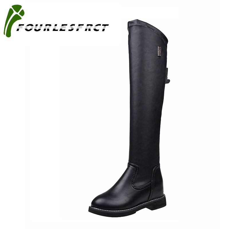 2017 Winter Boots Sexy over the knee high Suede women snow boots women's fashion winter thigh high boots shoes woman size 35-39 2017 sexy thick bottom women s over the knee snow boots leather fashion ladies winter flats shoes woman thigh high long boots