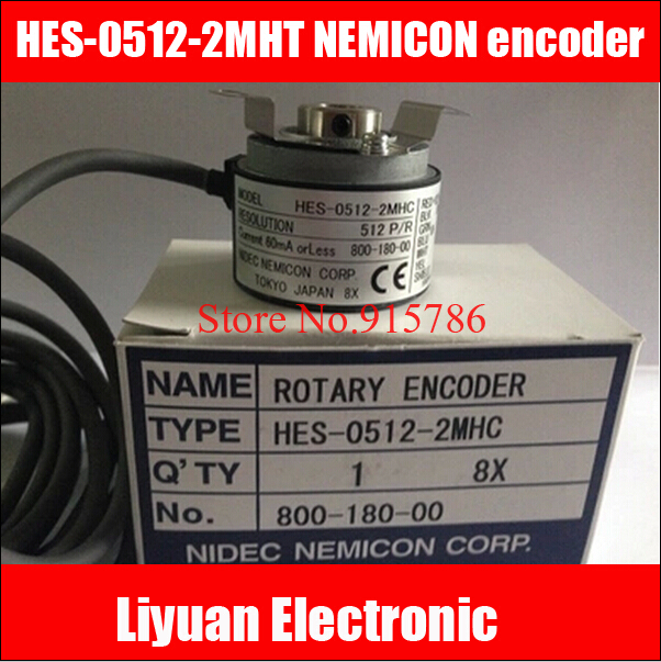 1pcs NEW HES 0512 2MHT 512 pulse NEMICON encoder 512 lines hollow shaft rotary encoder