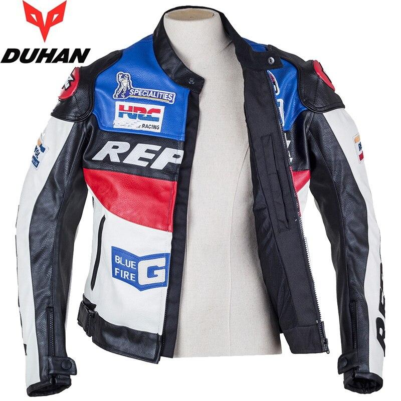 DUHAN Moto vêtements de Moto costumes REPSOL PU cuir hommes Moto veste vêtements printemps Anti-automne manteau - 5