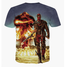 America Cartoon Deadpool 3D Printed Hip Hop T-shirt