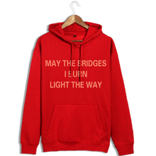 2016 autumn and winter new Sweatshirts loose wild red printing sets of men and women cotton hood sweatshirt tide
