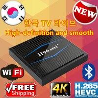 Новый 2019 evpad UBOX tvpad корейский IPTV США встроенный wifi Android TVBox бесплатно корейские прямые каналы потоковый TVPAD 4 Корейская версия