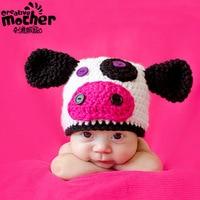 Newborn Baby Photo Props Girl Cap Boy Hat Birthday and Christmas Gift Baby Winter Wool Caps