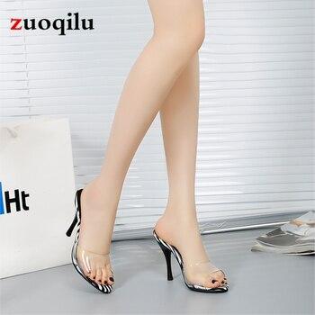2020 sexy transparent high heels women