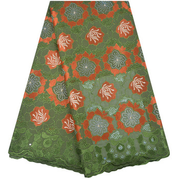 Green Color Nigerian Lace fabrics 2018 African Swiss Voile Lace High Quality Swiss Voile Lace In Switzerland For Wedding F1283