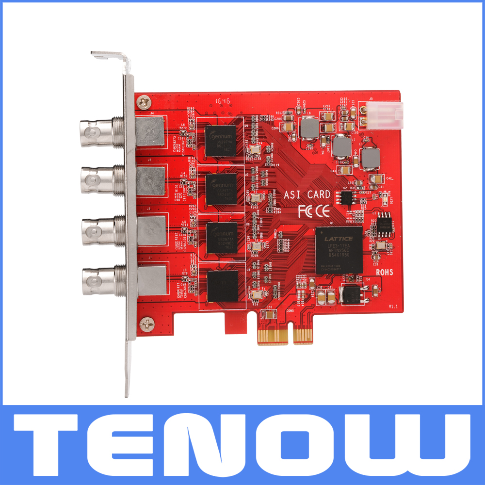 Broadcast TV Hot Deals TBS690A 4 Input DVB-ASI Capture Card for ASI to IP Conversion qunlong 0521 my world volcano mine building blocks toy compatible legoe minecraft building block city educational boys toy gift