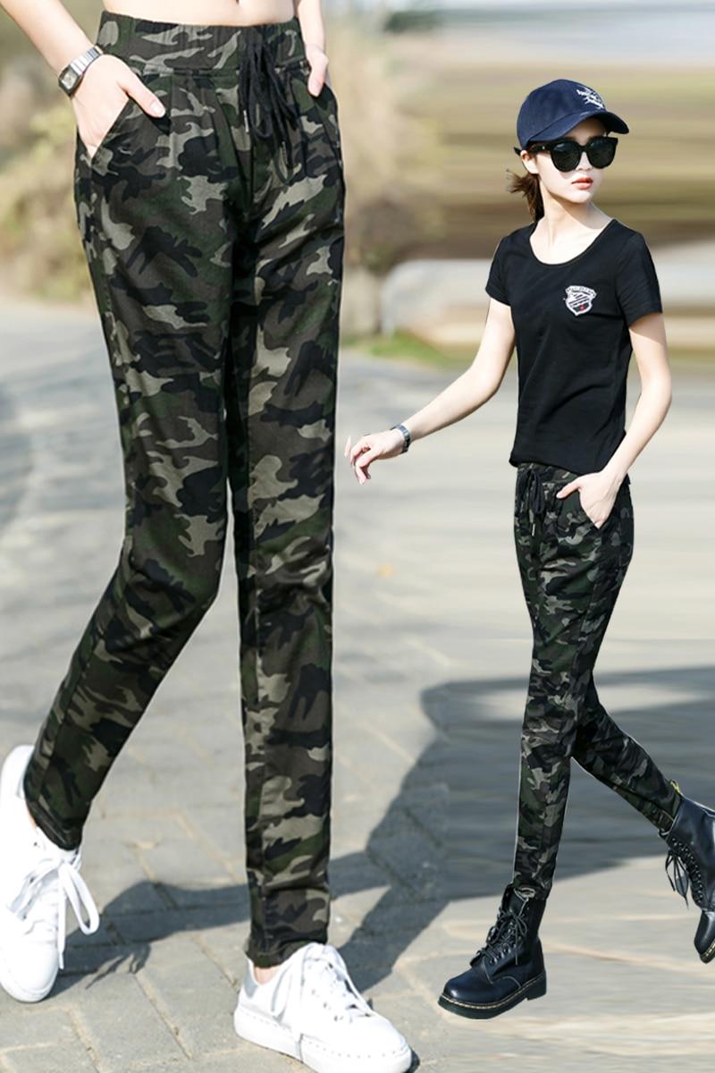 12ef37398b7fe Aliexpress.com : Buy Women Casual Pants Summer Plus Size Jogger Pants  Military Camouflage Women Pants Slim Fit Female Cotton Elegant Capris from  Reliable ...