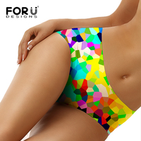 FORUDESIGNS Underwear Women 3D Sequins Print Seamless Panties Female Calcinha Sem Costura Sexy Breathable Underwear Cotton Panty