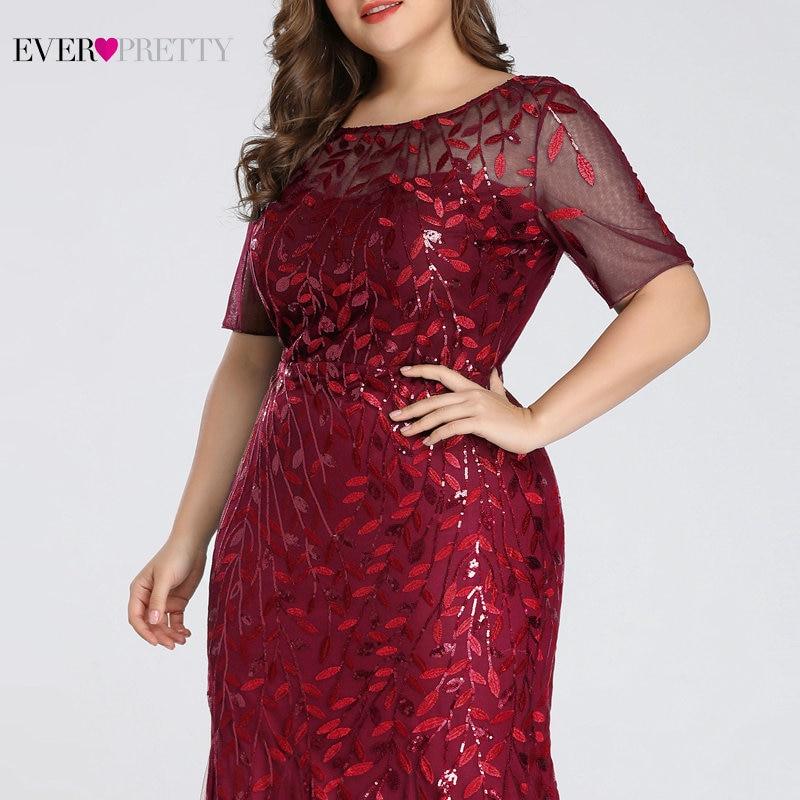 Plus Size Elegant Evening Dresses Saudi Arabia Ever Pretty Mermaid Sequined Lace Appliques Mermaid Long Dress 2019 Party Gowns