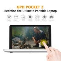 Ultra Portable Laptop GPD 7 Pocket Aluminum Shell Handheld Mini Laptop UMPC Win 10 CPU M3 7y30 8G RAM 128G SSD IPS Touchscreen
