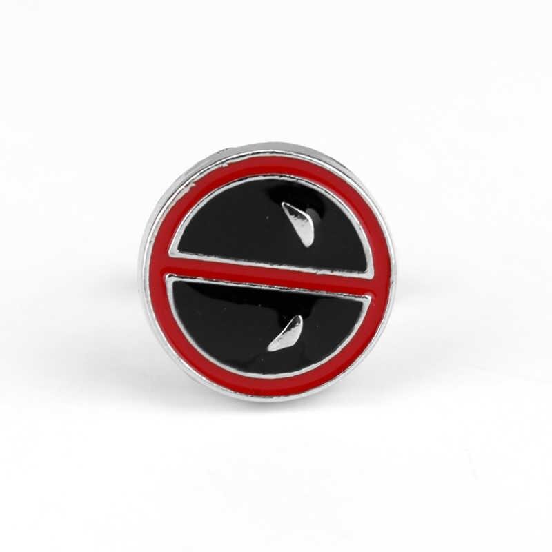 Dongsheng DC комиксов Marvel Дэдпул запонки для Для мужчин рубашка фильм ювелирные запонки металлические кнопки Круглый манжеты булавки подарки -40