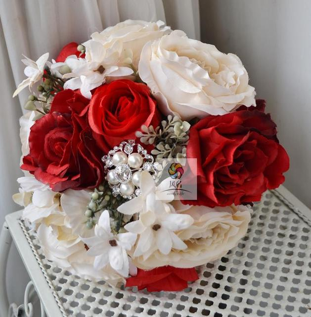 Brand New Vintage Style Wedding Bridal Bouquet Hand Made Bridesmaid ...